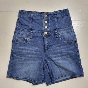 Forever 21 Super High Rise Retro Button Front Shorts